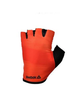 Тренировочные перчатки Reebok (без пальцев) красные размер M. Цвет: черный, красный