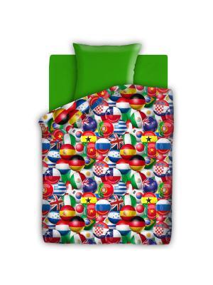 Комплект постельного белья FOR YOU. Цвет: зеленый