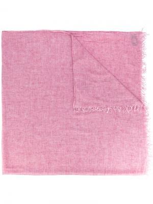 Шарф с бахромой Dondup. Цвет: розовый и фиолетовый