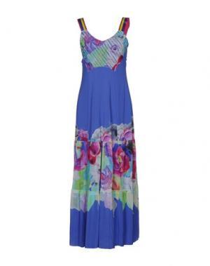 Длинное платье DIDIER PARAKIAN. Цвет: темно-фиолетовый