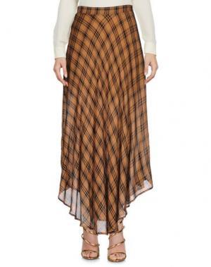 Длинная юбка NINEMINUTES. Цвет: верблюжий