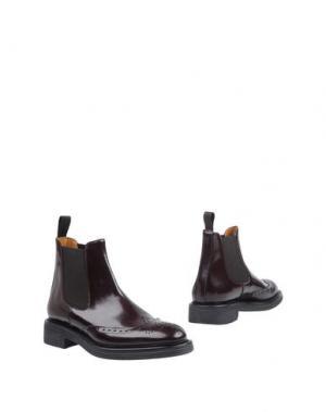 Полусапоги и высокие ботинки BRIAN CRESS. Цвет: баклажанный