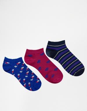 Lovestruck Комплект из 3 пар спортивных носков