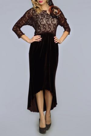 Платье двухслойное Kata Binska. Цвет: коричневый