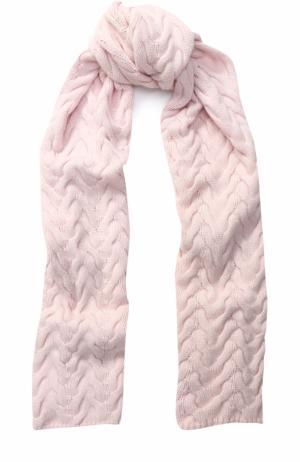 Вязаный кашемировый шарф Kashja` Cashmere. Цвет: светло-розовый