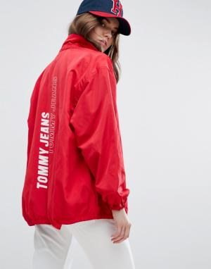 Tommy Jeans Спортивная куртка. Цвет: красный