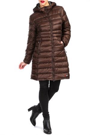 Пальто YETI. Цвет: коричневый