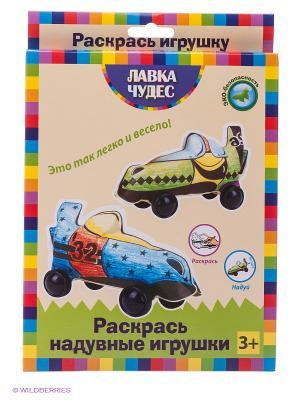 Набор для раскрашивания надувных игрушек из бумаги Гоночные машины Лавка Чудес. Цвет: зеленый