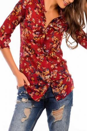 Рубашка Sateen. Цвет: красный