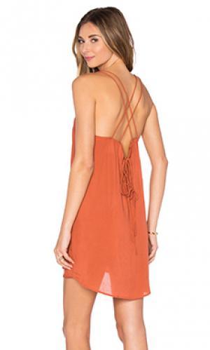 Платье kamaaina Acacia Swimwear. Цвет: ржавый