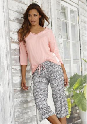 Пижама-капри Buffalo. Цвет: розовый с рисунком