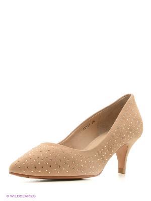 Туфли WOODS. Цвет: светло-коричневый
