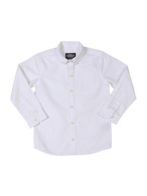 Рубашка для мальчика белая M-BABY. Цвет: белый