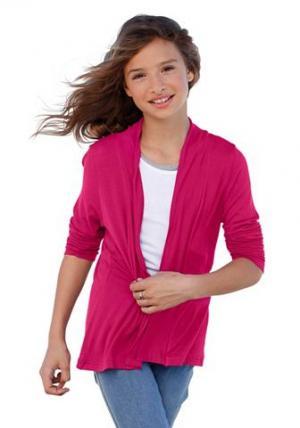 , жакет из джерси для девочек CFL. Цвет: ярко-розовый