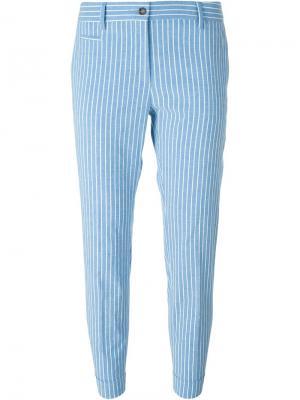 Полосатые брюки Alberto Biani. Цвет: синий
