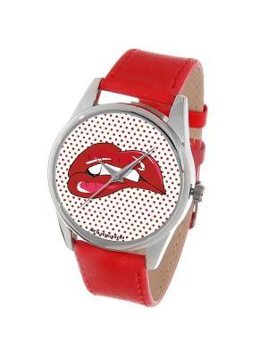 Часы Mitya Veselkov Губы. Цвет: коралловый