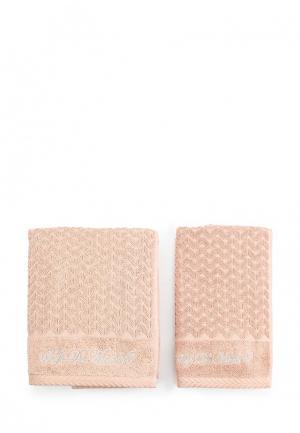 Комплект полотенец 2 шт. Sofi De Marko. Цвет: оранжевый
