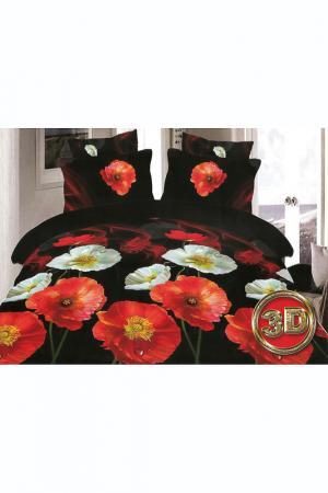 Постельное белье 1,5-сп. 70x70 BegAl. Цвет: черный, красный, белый