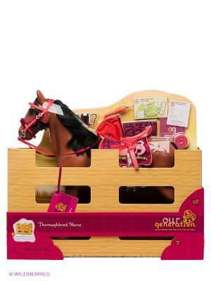 Лошадь с аксессуарами OG Dolls. Цвет: коричневый