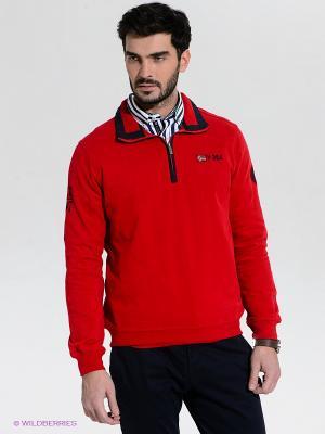 Пуловер Claudio Campione. Цвет: красный, темно-синий
