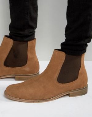 Dune Замшевые ботинки челси. Цвет: рыжий