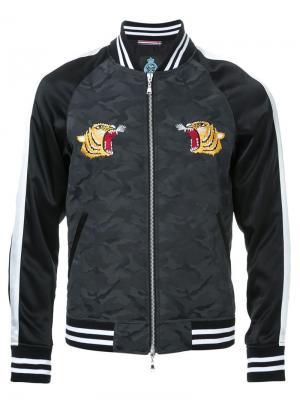 Куртка-бомбер с вышивкой Guild Prime. Цвет: чёрный