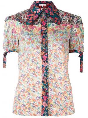 Рубашка с цветочным принтом Olympia Le-Tan. Цвет: многоцветный