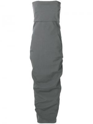 Платье Bustier Rick Owens. Цвет: серый