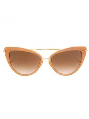 Солнцезащитные очки Heartbreaker Dita Eyewear. Цвет: коричневый