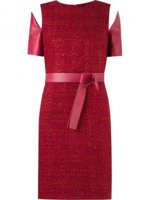 Panelled dress Gloria Coelho. Цвет: красный