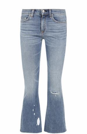 Укороченные расклешенные джинсы Rag&Bone. Цвет: синий