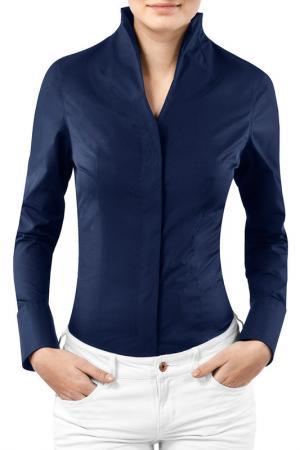 Блузка Vincenzo Boretti. Цвет: синий