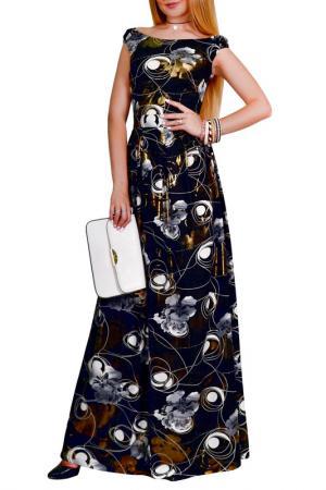 Платье Patricia B.. Цвет: черный, серый, золотой