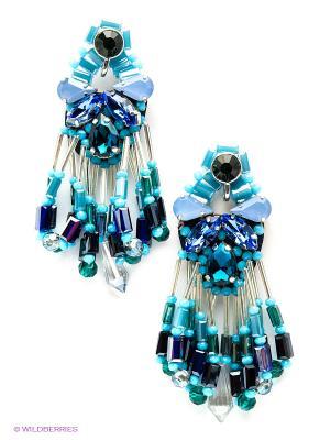 Серьги Kameo-bis. Цвет: голубой, серебристый