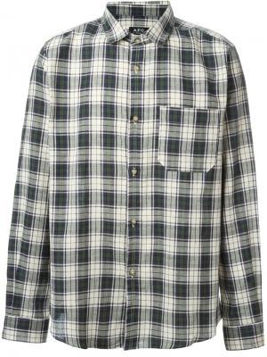 Клетчатая рубашка Trevor A.P.C.. Цвет: телесный