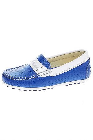 Мокасины BAILELUNA. Цвет: голубой, комбинированный