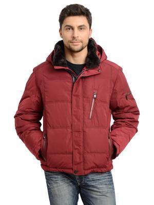 Куртка TAIS. Цвет: бордовый