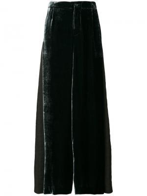 Бархатные брюки-палаццо Uma Wang. Цвет: зелёный
