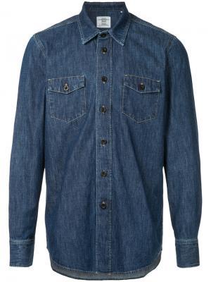 Классическая джинсовая рубашка Kent & Curwen. Цвет: синий
