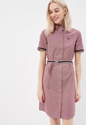 Платье Fred Perry. Цвет: бордовый