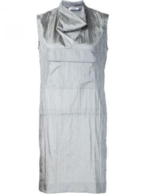 Платье без рукавов с воротником-хомутом Nomia. Цвет: серый