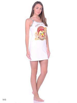Ночная сорочка NAGOTEX. Цвет: белый