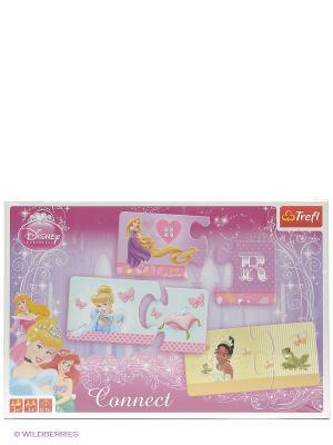 Игра Составь ряд. Принцессы Trefl. Цвет: розовый