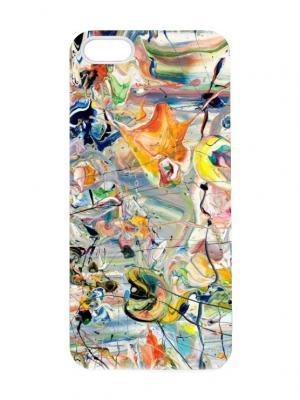 Чехол для iPhone 5/5s Авангард Chocopony. Цвет: серо-зеленый, голубой, кремовый, желтый, черный