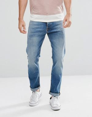 Nudie Jeans Свободные на бедрах джинсы цвета индиго с суженными книзу штанинами Nu. Цвет: синий