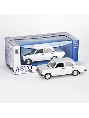 Машинка ВАЗ 2107 АВТОПАНОРАМА. Цвет: белый, черный