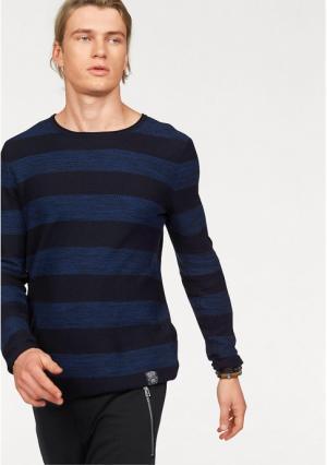 Пуловер JOHN DEVIN. Цвет: темно-синий/синий в полоску