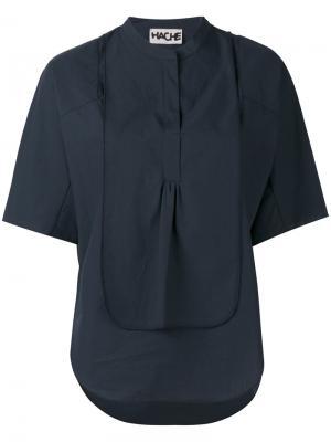 Многослойная блузка Hache. Цвет: синий