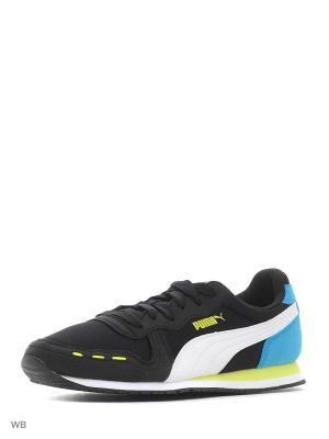 Кроссовки Cabana Racer Mesh Jr Puma. Цвет: черный, голубой