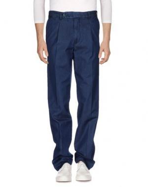 Джинсовые брюки LUIGI BIANCHI MANTOVA. Цвет: синий